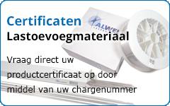 Certificaten lastoevoegmateriaal opvragen