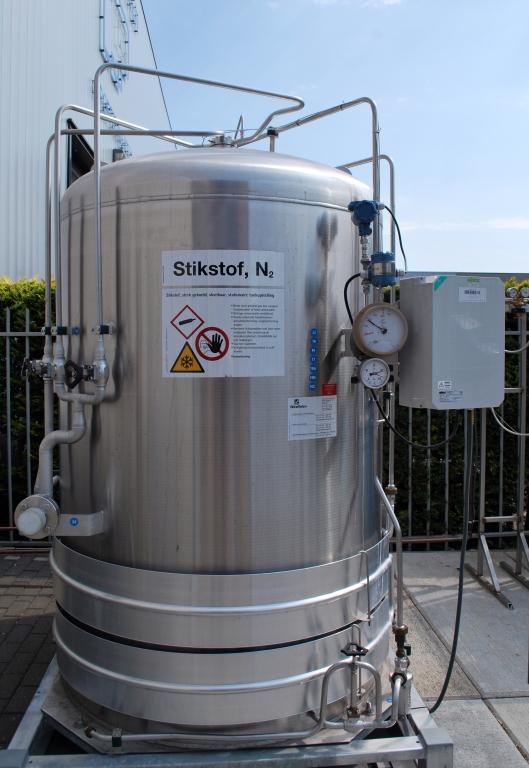 Cryogene stikstoftank